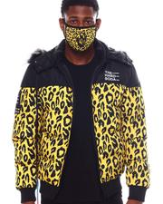 Heavy Coats - Leopard Puffer Coat w Mask-2563845
