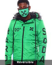 Men - Cross Arrow Reversible Puffer Jacket w Hood and Mask-2563861
