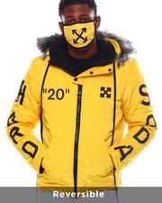 Fall-Winter - Cross Arrow Reversible Puffer Jacket w Hood and Mask-2563884