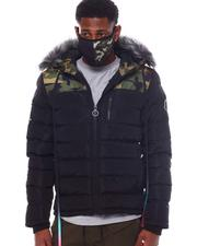 Men - Camo Puffer Coat w Mask-2563918