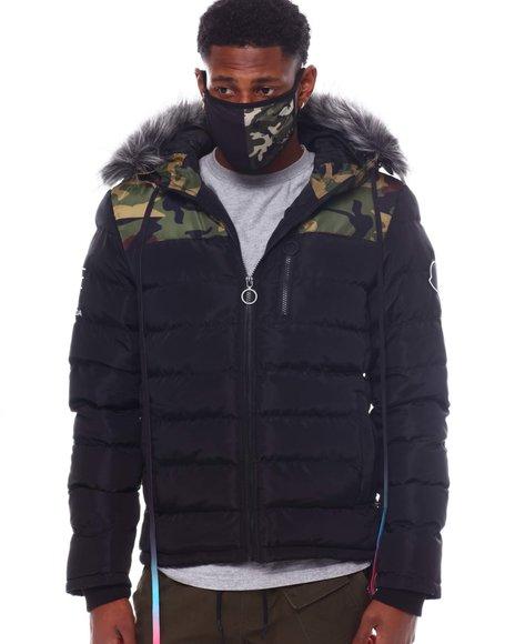 Buyers Picks - Camo Puffer Coat w Mask