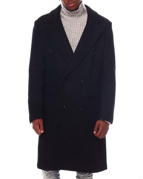 KARL LAGERFELD PARIS - BOILED WOOL TOPPER Coat W REMOVABLE LINER