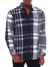 Button-downs - Multi Contrast Color Plaid Window Plaid Shirt by Veno-2563160