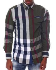 Button-downs - Brit Plaid Ls Woven Shirt with Contrast Window Pane Detail by Veno-2563183