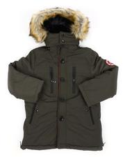 Arcade Styles - Heavy Weight Parka Jacket W/ Fur Lined Hood (8-18)-2558803
