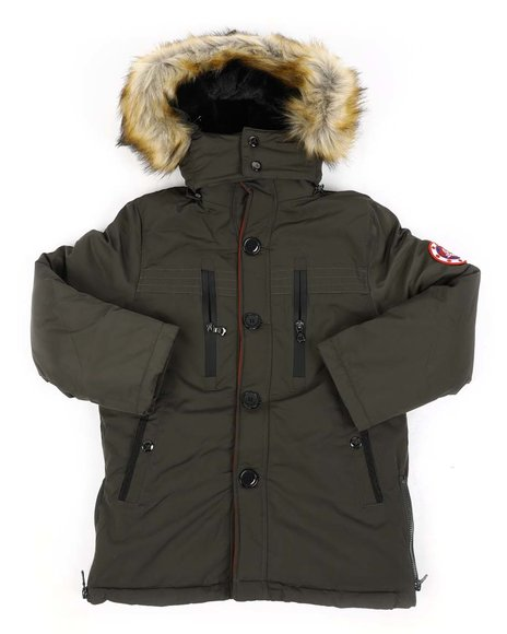 Arcade Styles - Heavy Weight Parka Jacket W/ Fur Lined Hood (8-18)