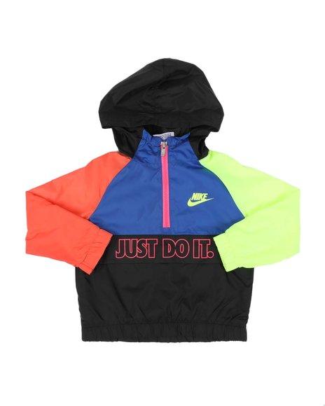 Nike - Color Block Half Zip Pullover Windbreaker Jacket (2T-4T)
