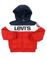 Levi's - Color Block Rocket Hooded Puffer Jacket (4-7)-2559374