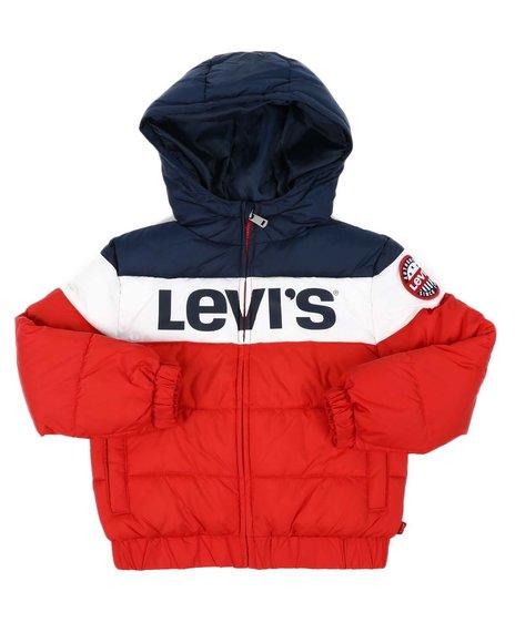 Levi's - Color Block Rocket Hooded Puffer Jacket (4-7)