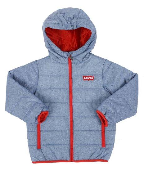 Levi's - Contrast Zipper Hooded Puffer Jacket (4-7)