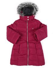 Outerwear - Puffer Jacket W/ Faux Fur Trim Hood (4-6X)-2560817