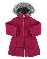 Calvin Klein - Puffer Jacket W/ Faux Fur Trim Hood (2T-4T)-2560822