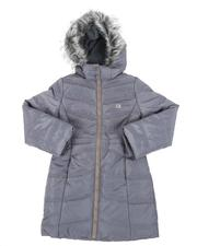 Outerwear - Puffer Jacket W/ Faux Fur Trim Hood (7-16)-2560831