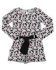 Kensie Girl - Long Sleeve Belted Romper (7-16)-2559860