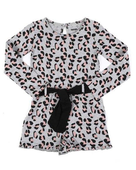 Kensie Girl - Long Sleeve Belted Romper (7-16)