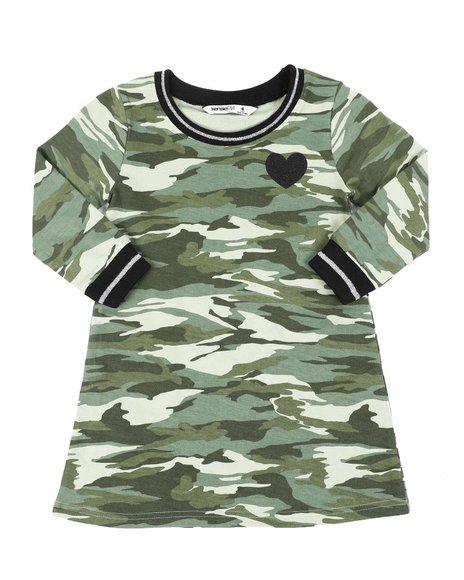 Kensie Girl - Camo Long Sleeve Sporty Dress (4-6X)