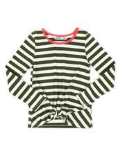 Kensie Girl - Twist Front Stripe Long Sleeve Top (7-16)-2559994