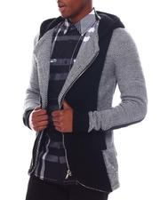 Outerwear - Asymmetrical Colorblock Zip Hoodie-2560183