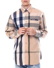 Fall-Winter - Brit Plaid Ls Woven Shirt with Contrast Window Pane Detail by Veno-2563137