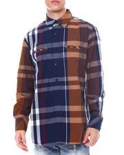 Button-downs - Multi Contrast Color Plaid Window Plaid Shirt by Veno-2563154