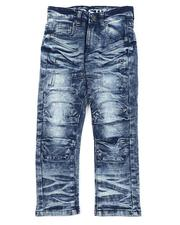 Bottoms - Cut & Sew Stretch Jeans W/ Articulated Knees (4-7)-2563377