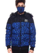 Men - Leopard Puffer Coat w Mask-2563855