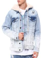 Men - Denim Jacket W Sherpa Hood-2564084