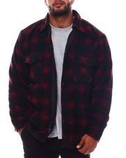 Big & Tall Faves - Plaid Polar Fleece Shirt Jacket (B&T)-2564292