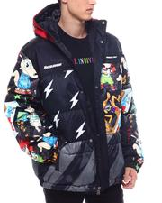 cartoons-pop-culture - Members Only X Nickelodeon - Mashup Block Puffer Jacket-2561850