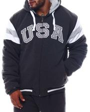 Big & Tall Faves - USA Padded & Hooded Zip Up Jacket (B&T)-2562765