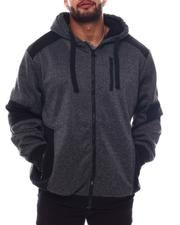 Men - Sherpa Lined Zip Up Hoodie (B&T)-2562832