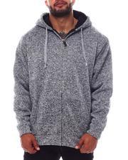 Outerwear - Sherpa Lined Yarn Dyed Fleece Zip Hoodie (B&T)-2562913