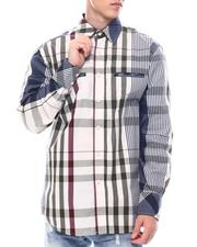 Button-downs - Multi Contrast Color Plaid Window Plaid Shirt by Veno-2563177
