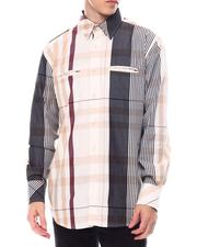 Black Friday Deals - Multi Contrast Color Plaid Window Plaid Shirt by Veno-2563419