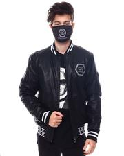 Black Friday Deals - Greek Key and Skull Pu Jacket w Mask-2564023