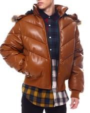 Men - U PUFFER WITH Faux FUR TRIMMED HOOD-2564045