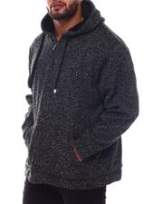 Big & Tall Faves - Sherpa Lined Yarn Dyed Fleece Zip Hoodie (B&T)-2564305
