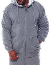 Light Jackets - Sherpa Lined Fleece Zip Hoodie (B&T)-2564309