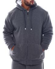 Light Jackets - Sherpa Lined Fleece Zip Hoodie (B&T)-2564317