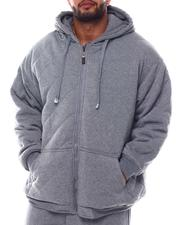 Heavy Coats - Diamond Quilted Fleece Shell Hoodie (B&T)-2562953