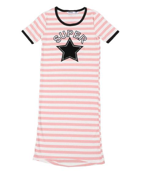 Kensie Girl - Rib Knit Stripe Dress (7-16)
