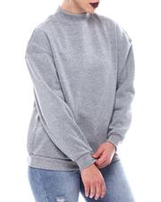 Sweatshirts - Fleece Back Sweat Shirt Top-2566072