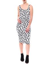 Dresses - Sleeveless Polka Dot Midi Dress-2564510