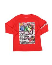 Arcade Styles - Savage Graffiti Long Sleeve T-Shirt (8-20)-2563098