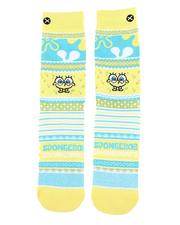 DRJ SOCK SHOP - SpongeBob Sweater Crew Socks-2560279