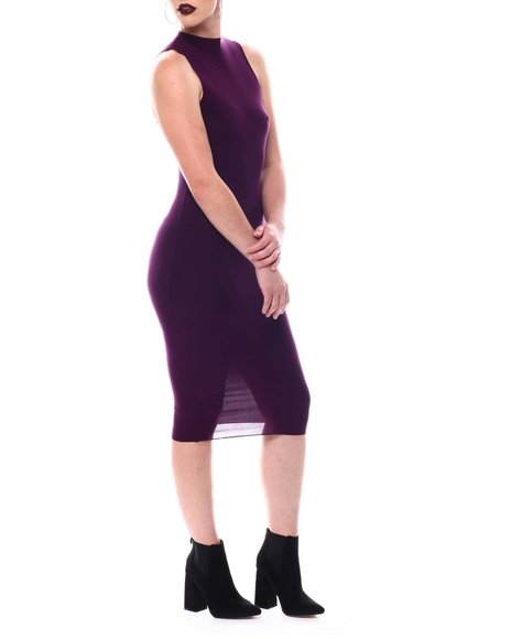 Fashion Lab - Sleeveless High Neck Midi Dress