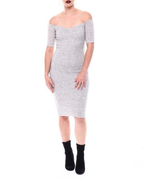 Fashion Lab - Off Shoulder Midi Dress