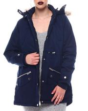 Fashion Lab - Hooded Coat W/Chest Pockets & Bottom Zipper & patch Pockets-2564709