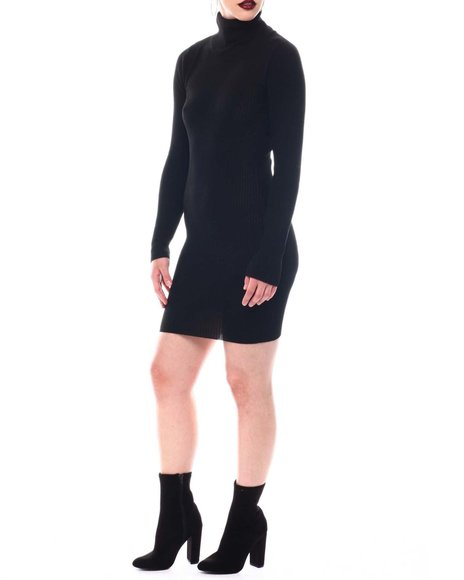 Fashion Lab - Turtle Neck Sweater Long Sleeve Dress