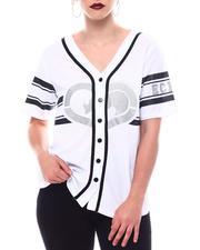 Ecko Red - Ecko Baseball Jersey W/Glitter Hear-2566400